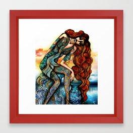 Astrology Illustration series-Aquarius Framed Art Print