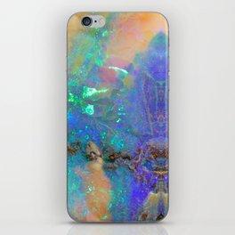 Aquamarine Opal Gemstone Marble Rock Mineral Pattern iPhone Skin