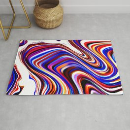 flow of colored blocks Rug