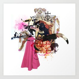 Collag2Nim Art Print