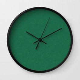 Green pattern, fabric Wall Clock