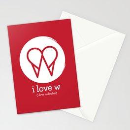 I Love W Stationery Cards