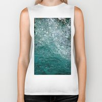 splash Biker Tanks featuring Splash by Leah McPhail