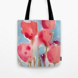 Tulips in watercolor Tote Bag