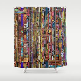 Stripped Shower Curtain