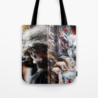 punk rock Tote Bags featuring Punk Rock by Studio46