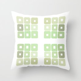 Squared Mint Green & Co Throw Pillow