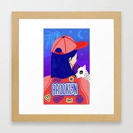 Brooklyn Girl Framed Art Print