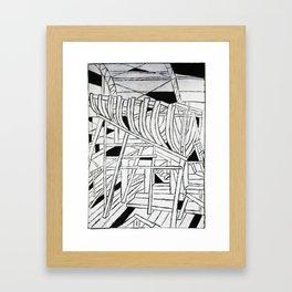 Nautical Ribcage Framed Art Print
