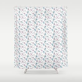 Spacemen on Earth Shower Curtain