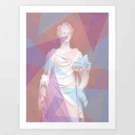 Geometric Goddess Art Print