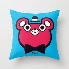 Bearbert Throw Pillow