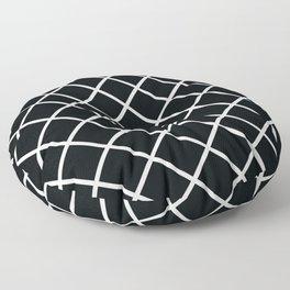 Black Diamonds - Black & White Floor Pillow