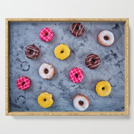 Glazed Donuts Serving Tray