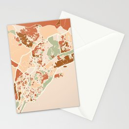 PANAMA CITY MAP EARTH TONES Stationery Cards