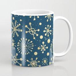Hand Drawn Snowflakes Golden Coffee Mug