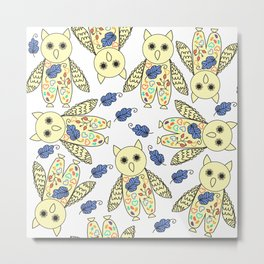 Owls pattern #5 Metal Print