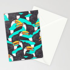 Toucans [green] Stationery Cards