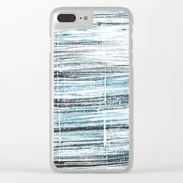 Ghost white abstract watercolor Clear iPhone Case