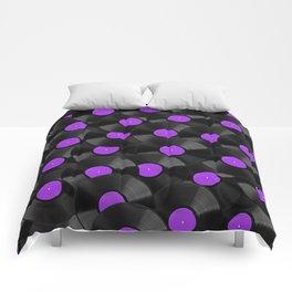 Vinyl Records Pattern (Purple) Comforters