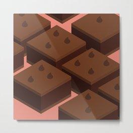 Chocolate Chip Brownies Metal Print