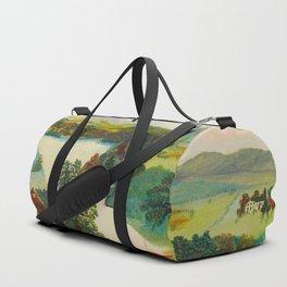 Anna Mary Robertson 'Grandma' Moses Upper Cambridge Valley American Folk Art Duffle Bag
