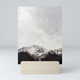 Scenic Mountain Photograph Grunge Weathered Look Mini Art Print