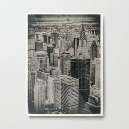 New York City buildings (Old plate camera) Metal Print