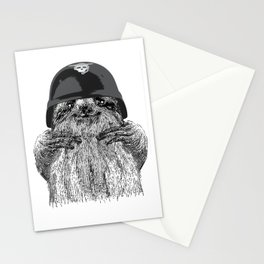 Motorcyclist Sloth Stationery Cards