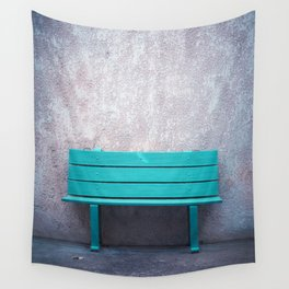 Green Bench Wall Tapestry