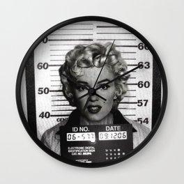 Marilyn Mugshot Wall Clock