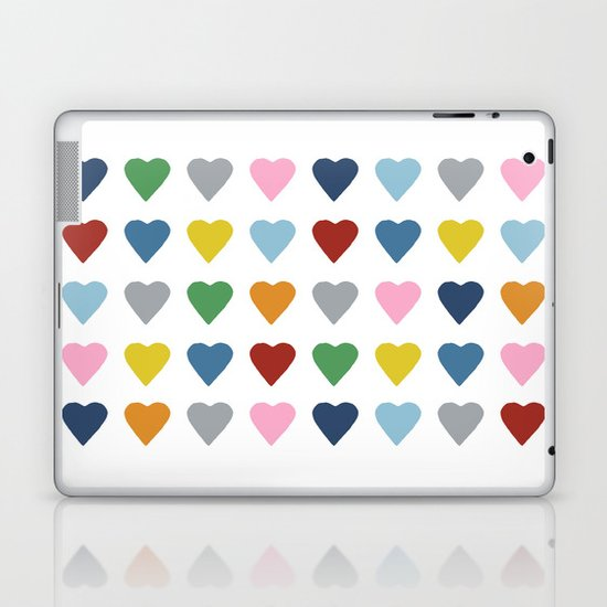 64 Hearts Laptop & iPad Skin