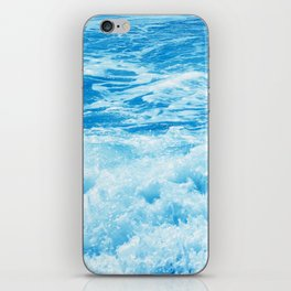 Aquamarine Ocean Waves With White Surf iPhone Skin