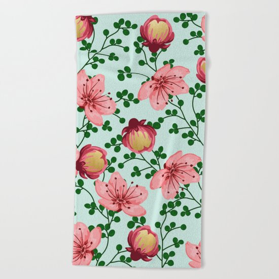 Blush Vines #society6 #decor #buyart Beach Towel