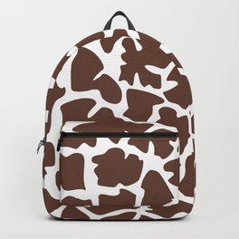 Animal Print (Giraffe Pattern) - Brown White Backpack