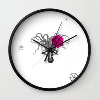psychology Wall Clocks featuring Archetypes Series: Sophistication by Attitude Creative