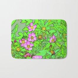Sitka Rose Watercolor Bath Mat