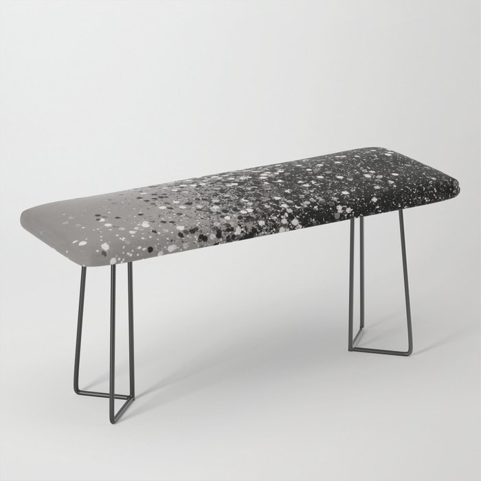 Silver Gray Glitter #1 #shiny #decor #art #society6 Bench