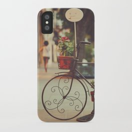 The bike with the flowers iPhone Case