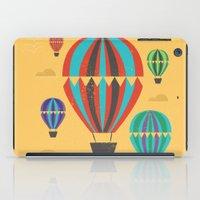 hot air balloons iPad Cases featuring Hot Air Balloons by Marina Design