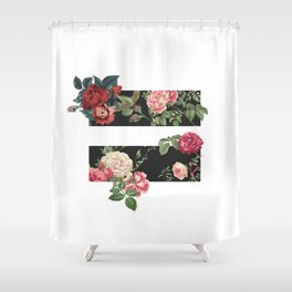 floral equality symbol Shower Curtain