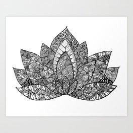 Lotus Luvin Art Print