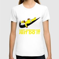 homer T-shirts featuring Homer Lazy by Maxvtis