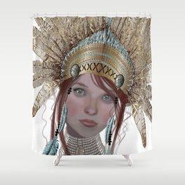 Golden headress Shower Curtain