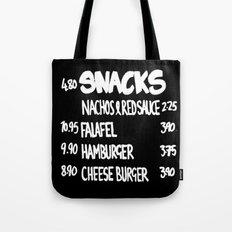 SNACKS - Black Tote Bag