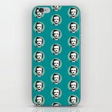 Edgar Allan Poe-ka Dots Teal iPhone & iPod Skin