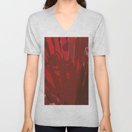 Deep Red Unisex V-Neck