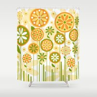 sunshine Shower Curtains featuring Sunshine by Shelly Bremmer