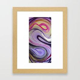 Waves Pink Framed Art Print