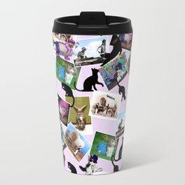 Collage of  Cat Photographs Travel Mug